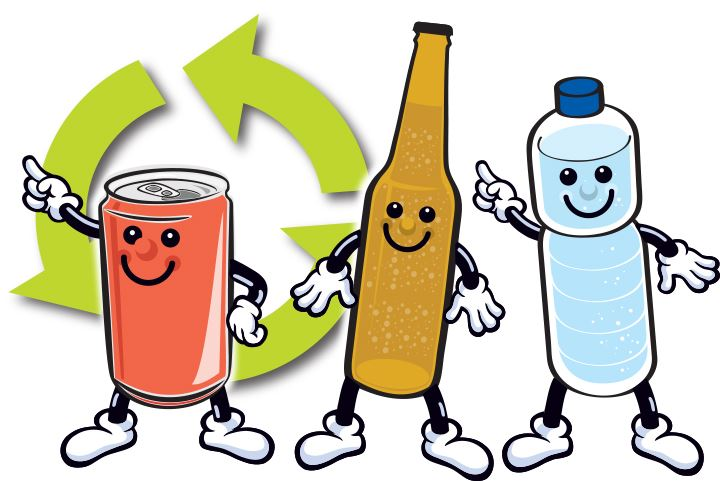 Image of the City of Modesto Recycling Mascots