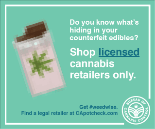 Digital Ad text: Do you know what's hiding in your counterfeit edibles?  Shop licensed cannabis r