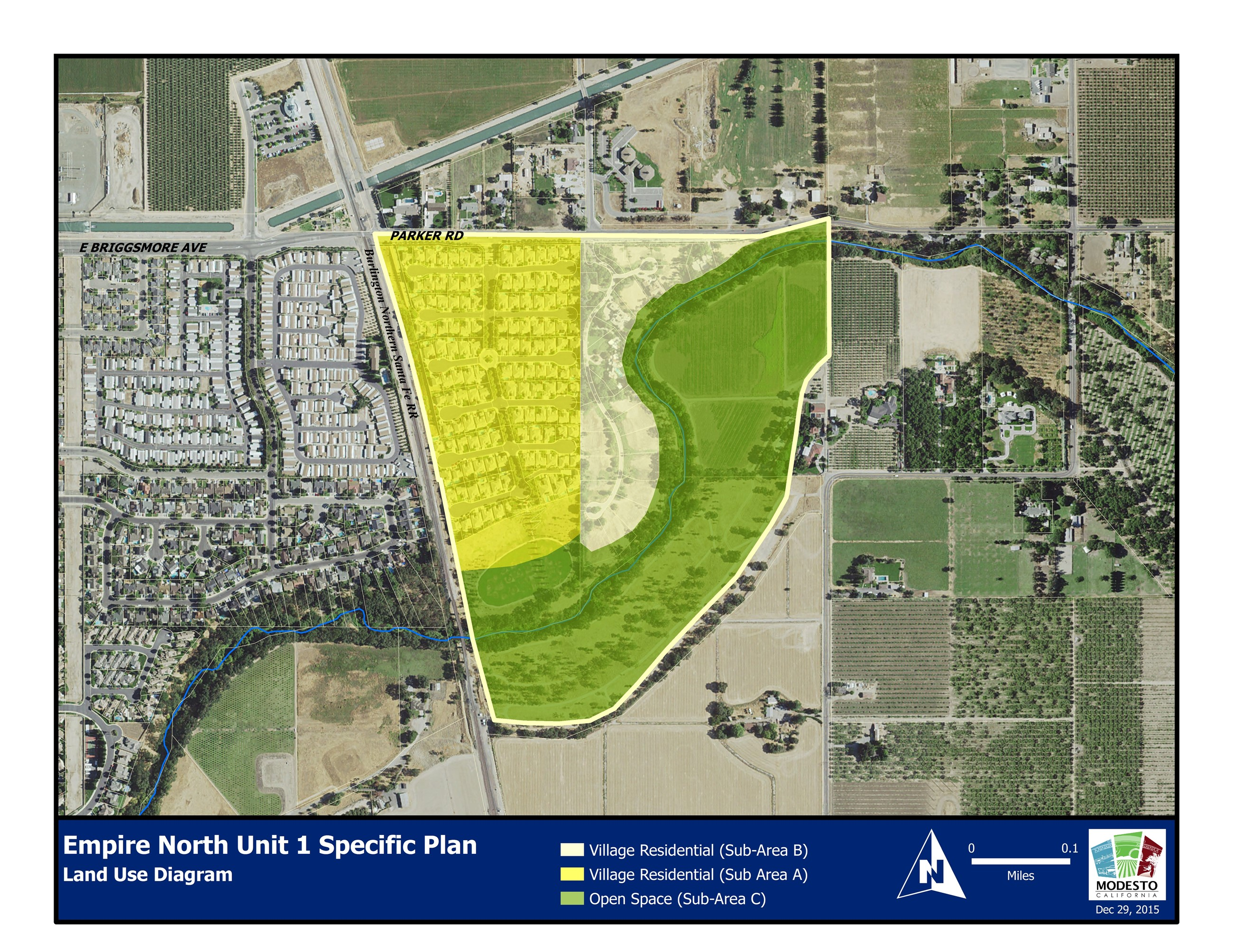 Empire North Specific Plan Land Use Diagram