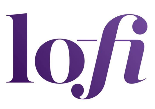 lo-fi logo consisting of the text lo-fi