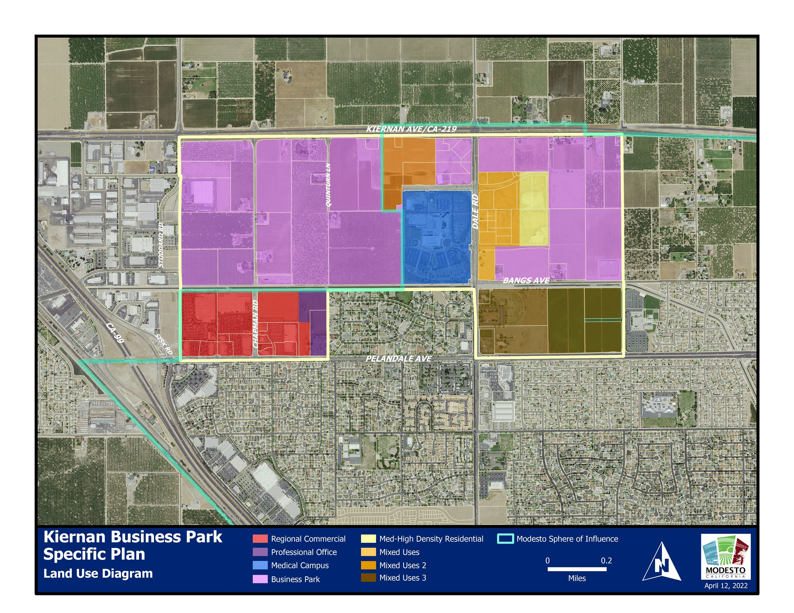 Kiernan Business Park Specific Plan Land Use Diagram
