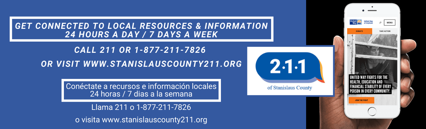 Get connected to local resources twenty four hours a day, seven days a week by calling 211.""