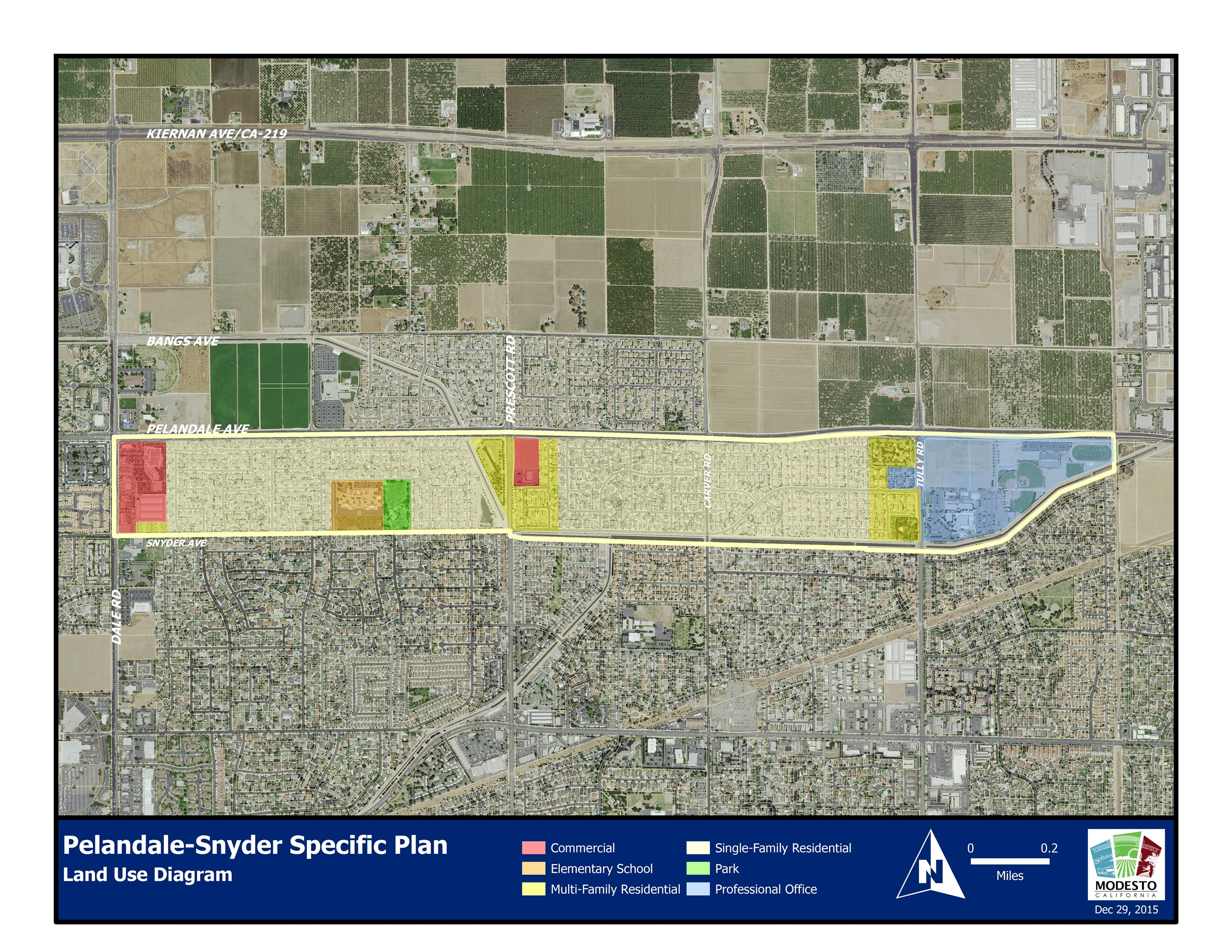 Pelandale Snyder Specific Plan Land Use Diagram