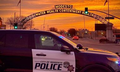 Modesto Police Department Sunset Arch