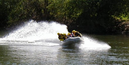 Water Rescue Team on a boat