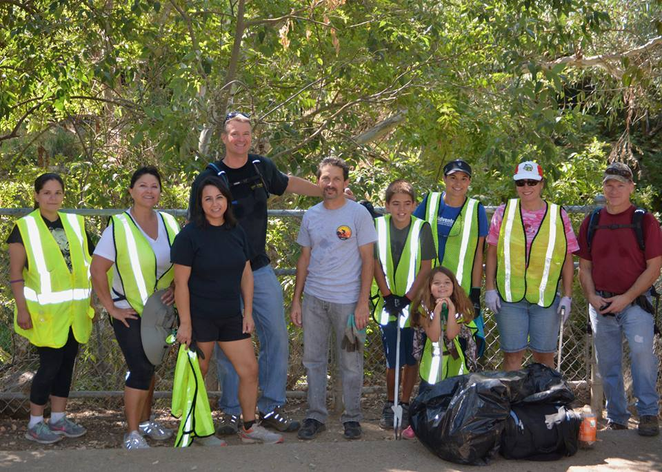 Group of volunteers along the trail