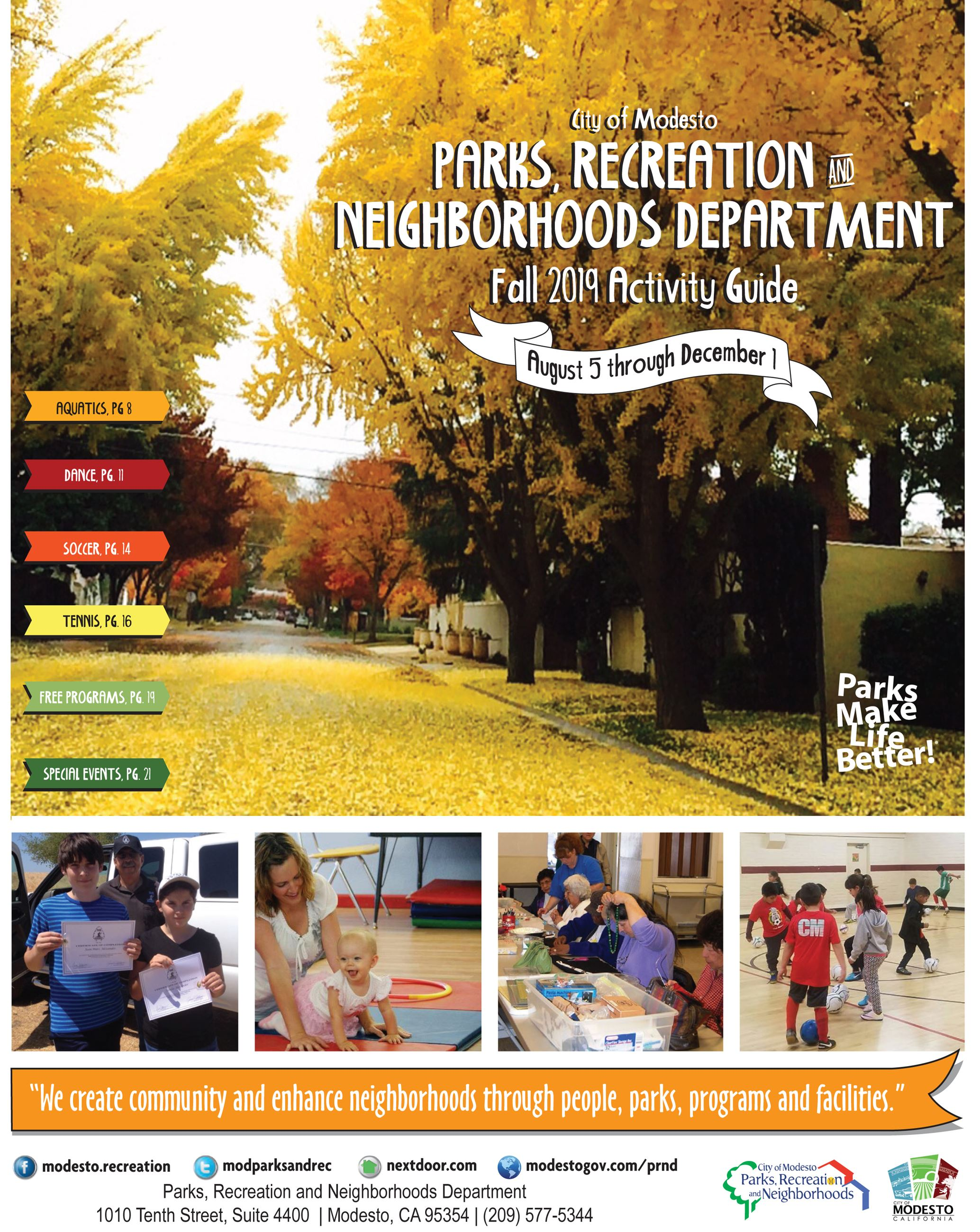 2019 Activity Guide Cover Fall Trees Opens in new window