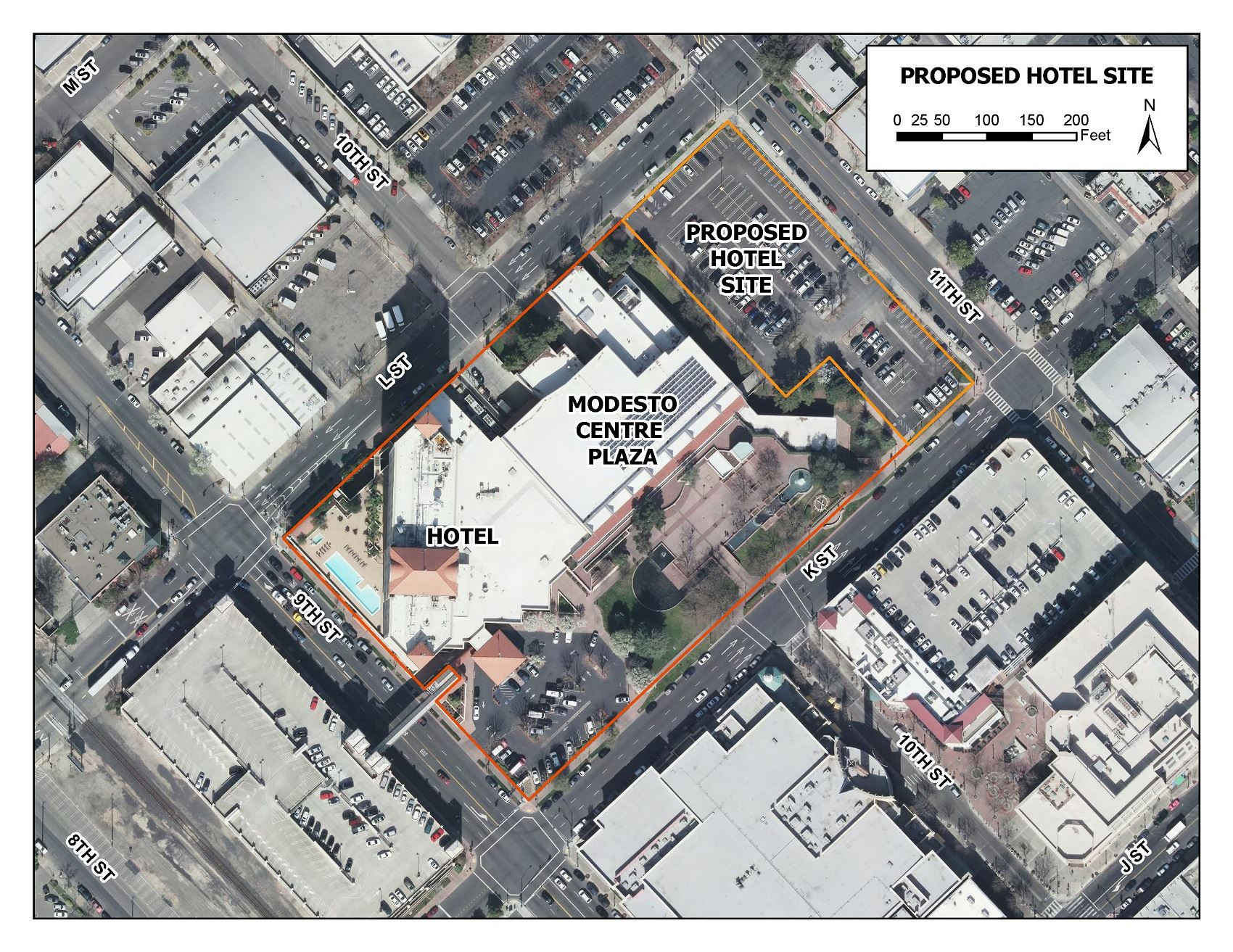Downtown Hotel Proposed Site Map