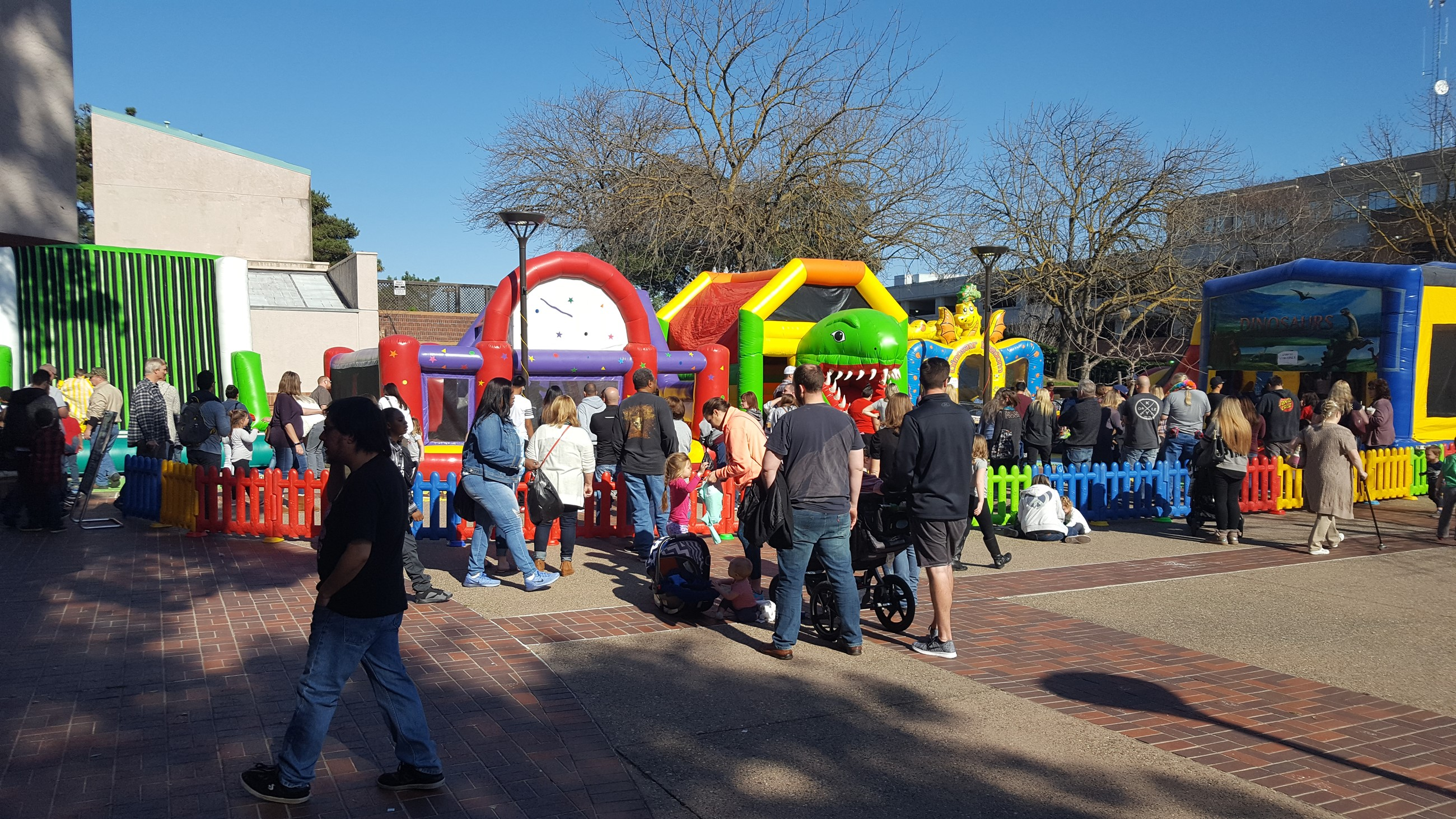 Bounce Houses in the Plaza